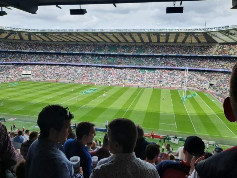 Vista sentada para Twickenham Stadium Secção M4 Fila 69 Lugar 91