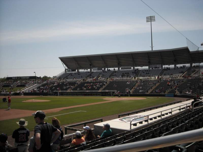Vista sentada para Hammond Stadium Secção 115 Fila 7 Lugar 1