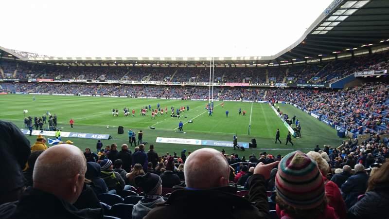 Vista sentada para Murrayfield Stadium Secção West 5