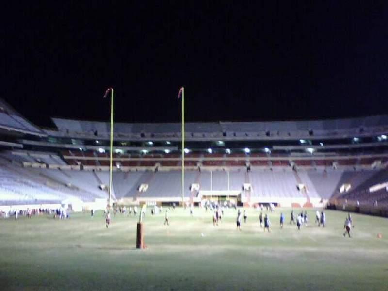 Vista sentada para Texas Memorial Stadium Secção Field