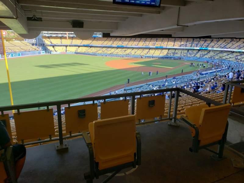 Vista sentada para Dodger Stadium Secção 161LG Fila W Lugar 2