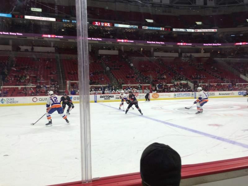 Vista sentada para PNC Arena Secção 121 Fila B Lugar 2