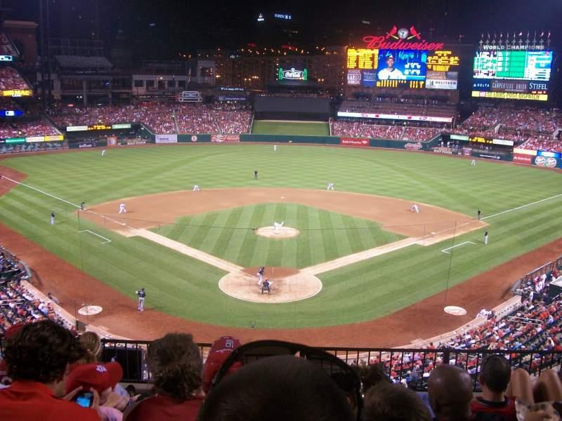 Vista sentada para Busch Stadium Secção 250 Fila 6 Lugar 8