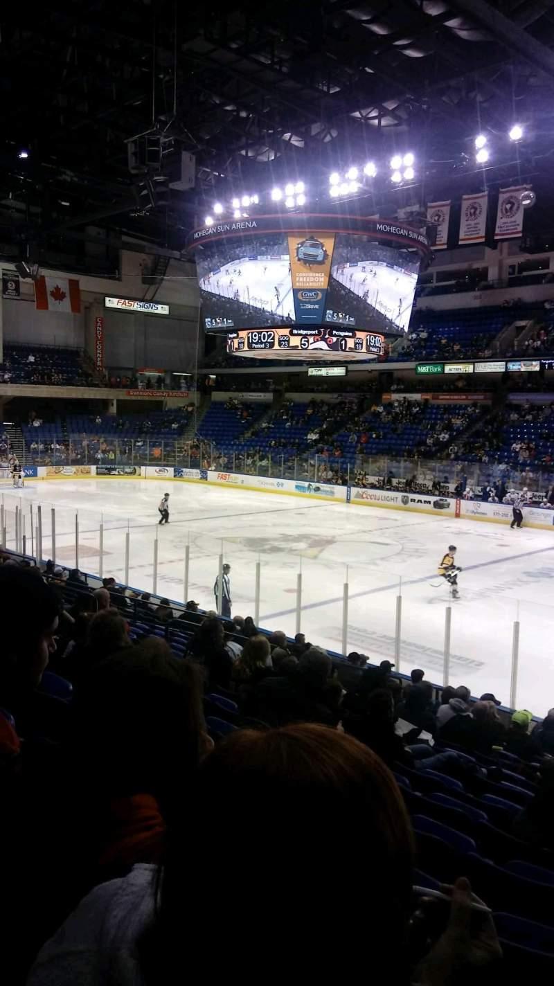 Vista sentada para Mohegan Sun Arena at Casey Plaza Secção 114 Fila P Lugar 20