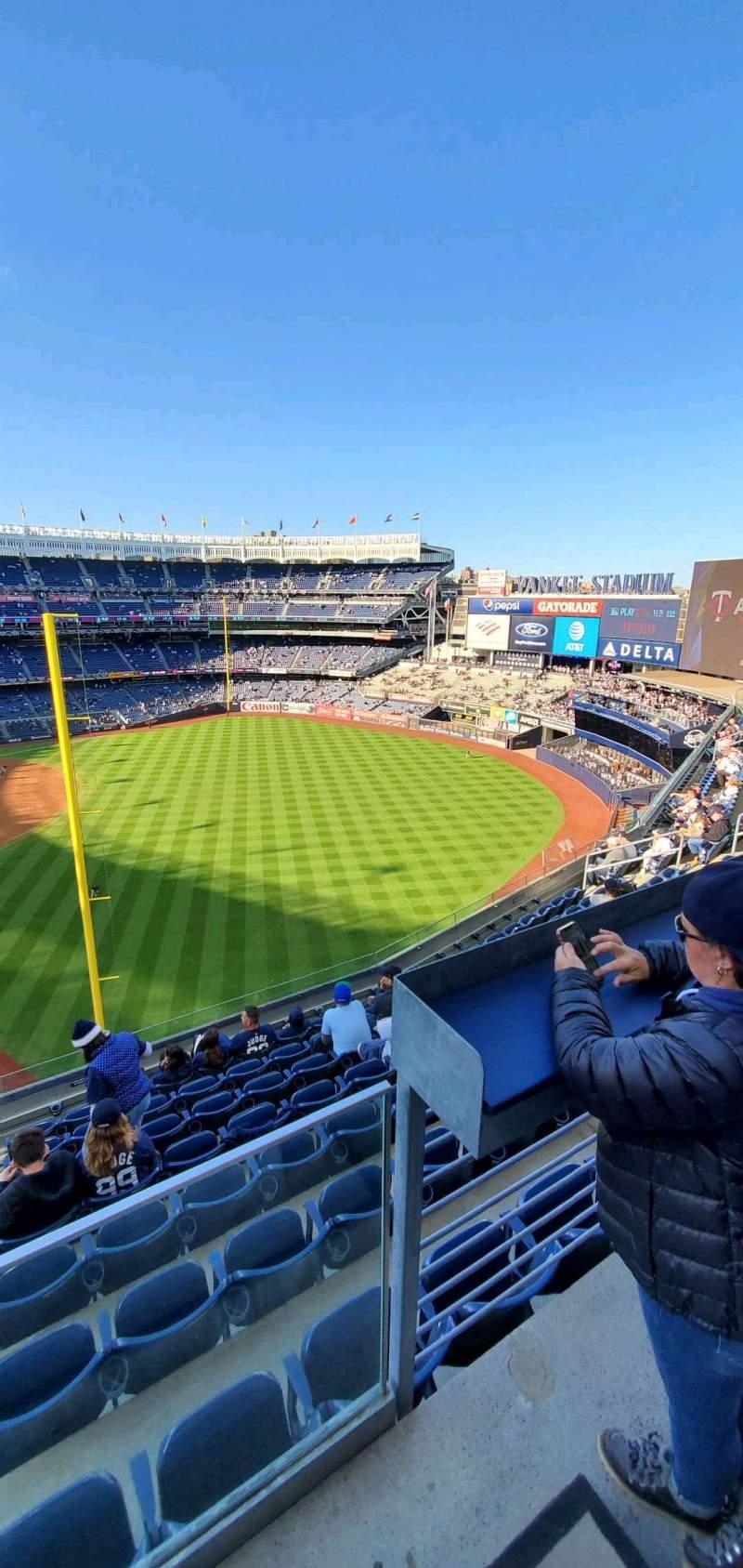 Vista sentada para Yankee Stadium Secção 309 Fila 6 Lugar 9