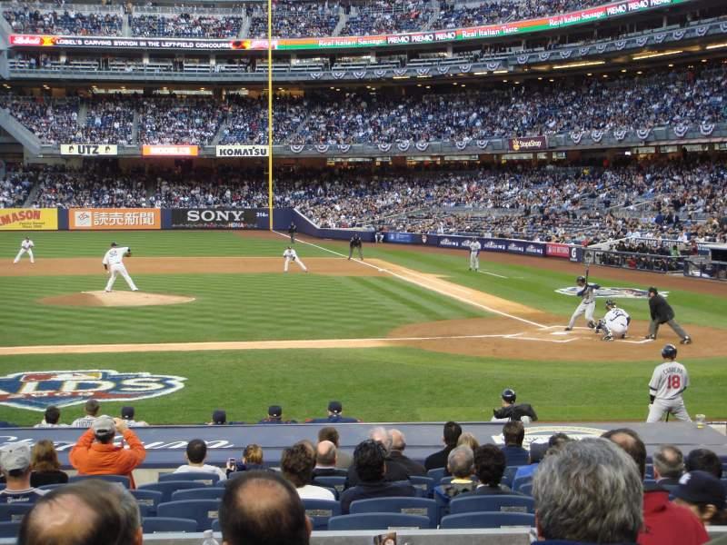 Vista sentada para Yankee Stadium Secção 123 Fila 16 Lugar 5