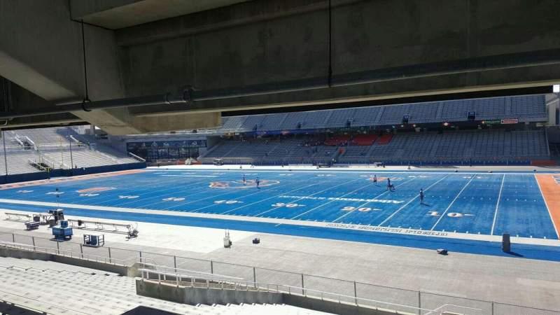 Vista sentada para Albertsons Stadium Secção 20 Fila W Lugar 10
