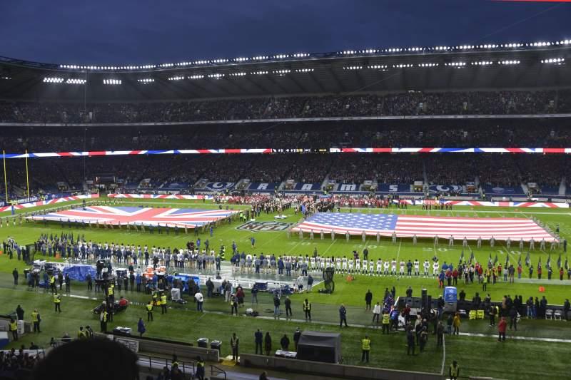 Vista sentada para Twickenham Stadium Secção M5 Fila 52 Lugar 123