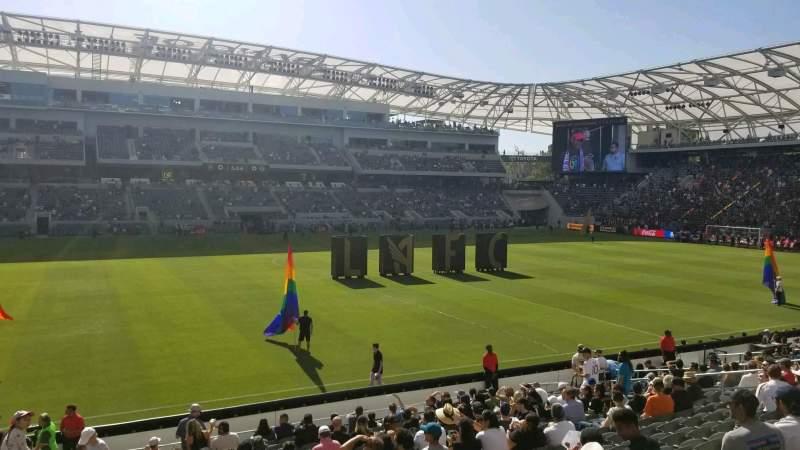 Vista sentada para Banc of California Stadium Secção 115 Fila T Lugar 23