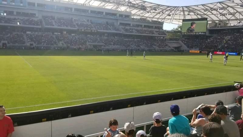 Vista sentada para Banc of California Stadium Secção 116 Fila D Lugar 24