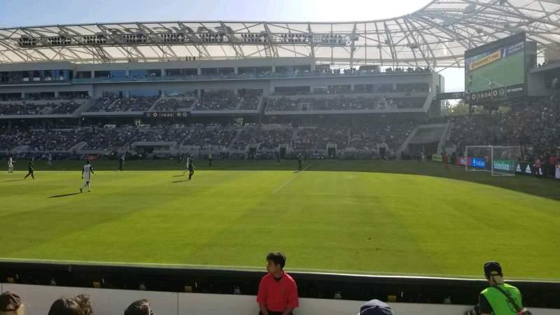 Vista sentada para Banc of California Stadium Secção 109 Fila E Lugar 24