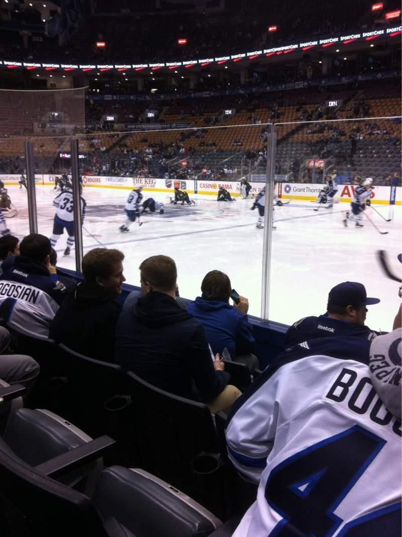 Vista sentada para Scotiabank Arena Secção 118 Fila 4 Lugar 1