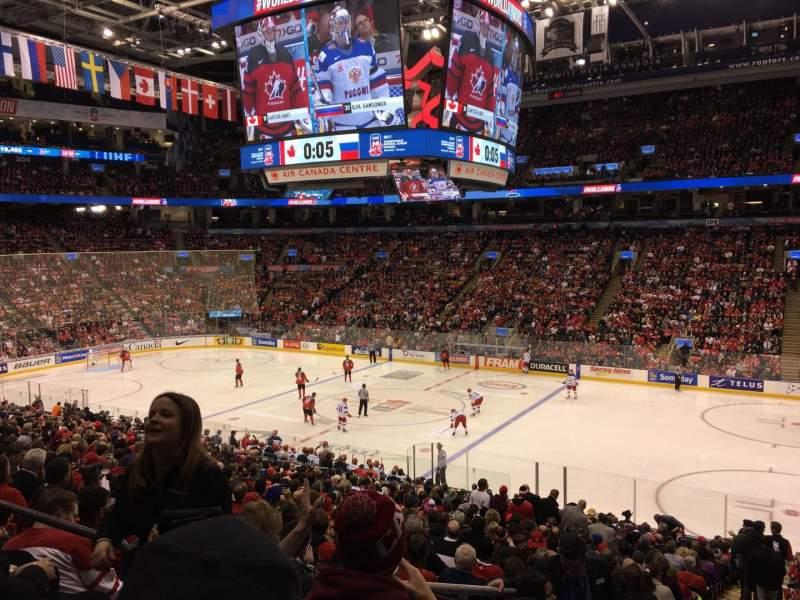 Vista sentada para Scotiabank Arena Secção 117M Fila 26 Lugar 24