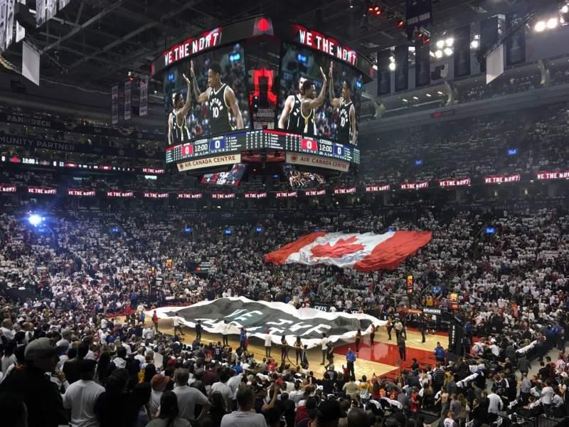 Vista sentada para Scotiabank Arena Secção 106 Fila 21 Lugar 1