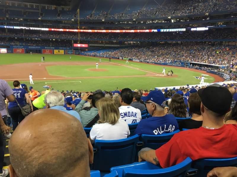 Vista sentada para Rogers Centre Secção 127R Fila 32 Lugar 1