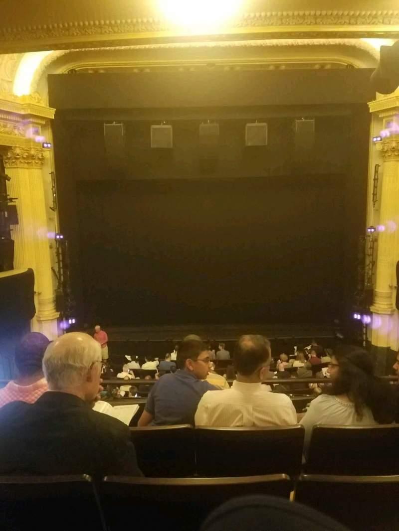 Vista sentada para Hudson Theatre Secção dress circle c Fila e Lugar 108