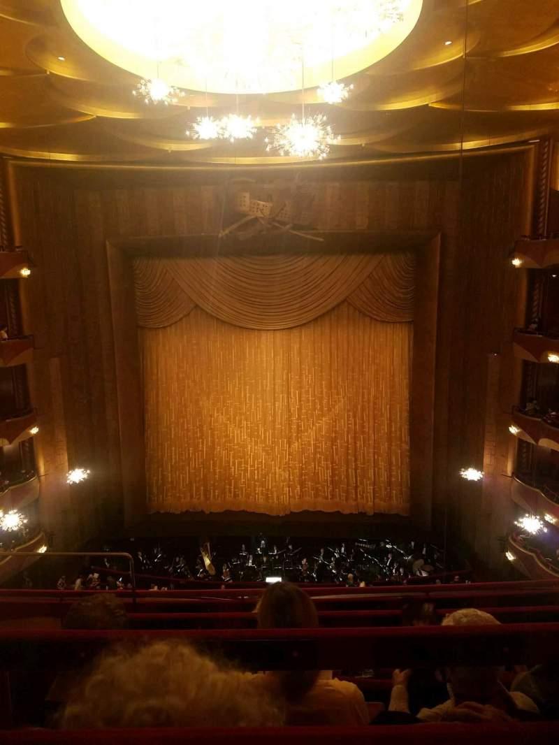 Vista sentada para Metropolitan Opera House - Lincoln Center Secção Balcony Fila D Lugar 104