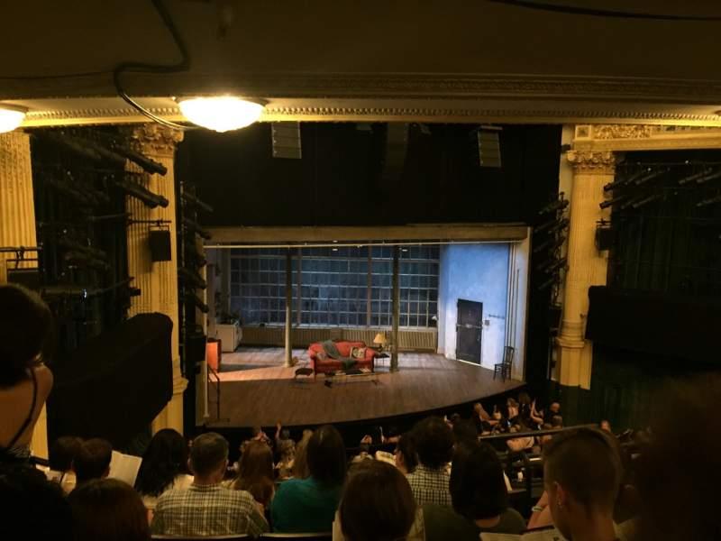 Vista sentada para Hudson Theatre Secção Dress Circle L Fila F Lugar 5