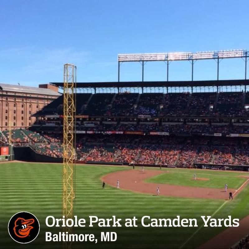 Vista sentada para Oriole Park at Camden Yards Secção 274 Fila A Lugar 1