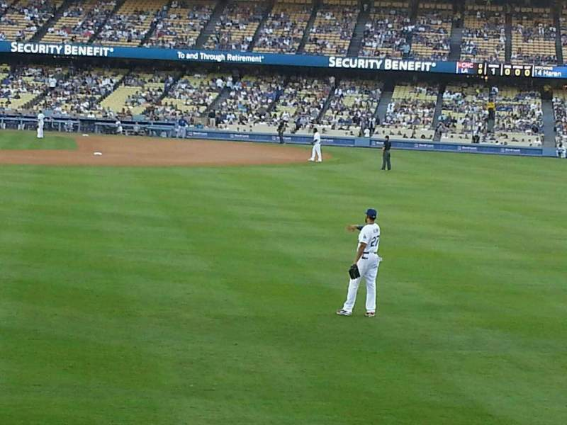Vista sentada para Dodger Stadium Secção 304PL Fila B Lugar 5