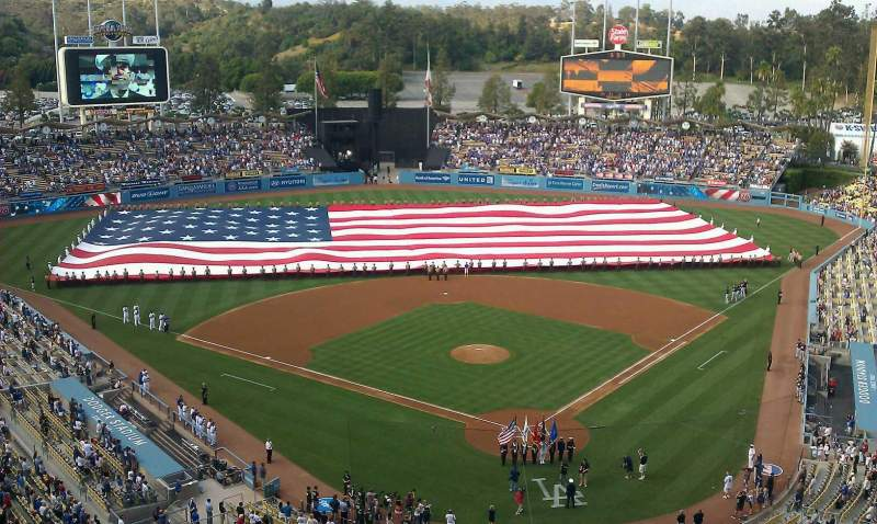 Vista sentada para Dodger Stadium Secção 3TD
