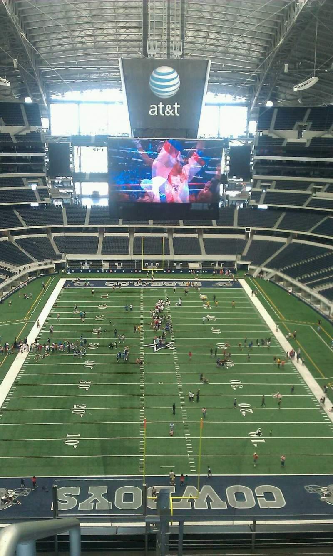 Vista sentada para AT&T Stadium Secção 458 Fila 1 Lugar 1