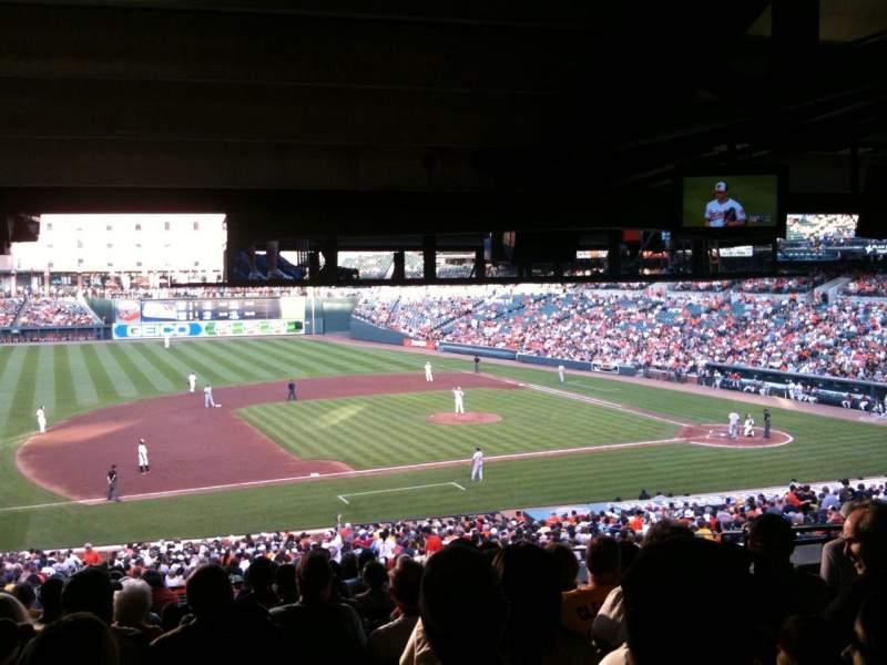 Vista sentada para Oriole Park at Camden Yards Secção 55 Fila 13 Lugar 7