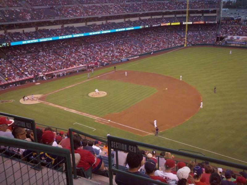 Vista sentada para Angel Stadium Secção 428 Fila B Lugar 7
