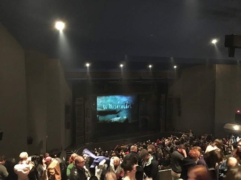 Vista sentada para Stranahan Theater Secção Balcony Left Fila F Lugar 27