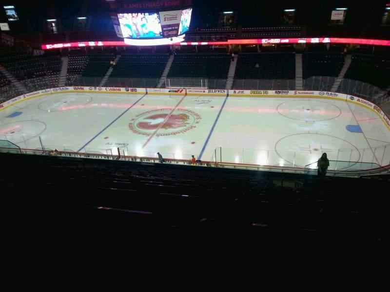 Vista sentada para Scotiabank Saddledome Secção 213 Fila 20 Lugar 20