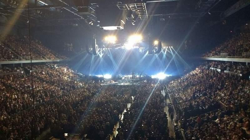 Vista sentada para Toyota Arena Secção 209 Fila A Lugar 19