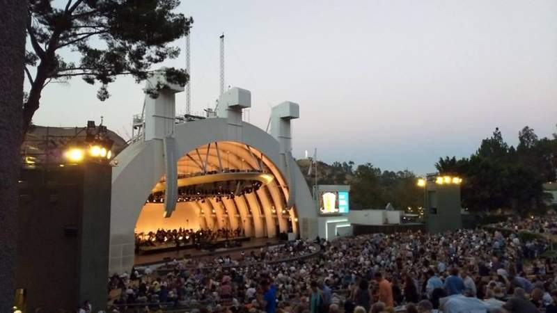 Vista sentada para Hollywood Bowl Secção K3 Fila 1 Lugar 5