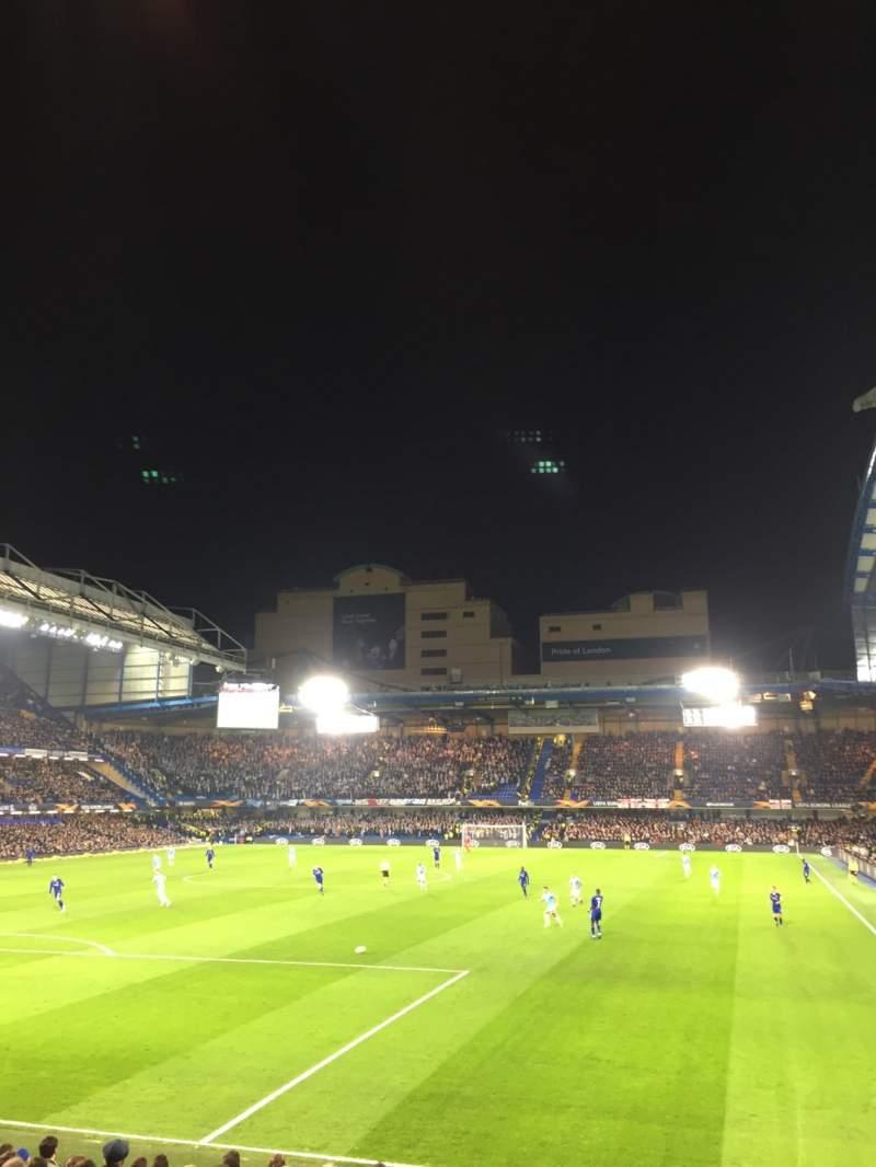 Vista sentada para Stamford Bridge Secção Matthew Harding Lower 10 Fila T Lugar 305
