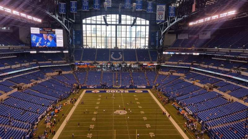 Vista sentada para Lucas Oil Stadium Secção 627 Fila 4 Lugar 6
