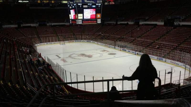 Vista sentada para Joe Louis Arena Secção 217A Fila 5 Lugar 1