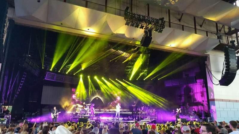 Vista sentada para Riverbend Music Center Secção 200 Fila J Lugar 234