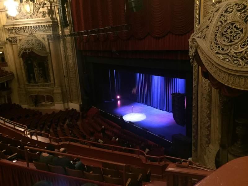 Vista sentada para Chicago Theatre Secção Balcony Box 11 Fila A Lugar 20