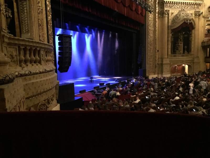 Vista sentada para Chicago Theatre Secção Mezzanine Box Z Fila 1 Lugar 1