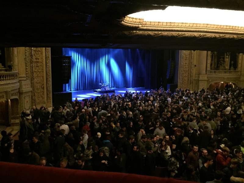 Vista sentada para Chicago Theatre Secção Mezzanine Box U Fila 1 Lugar 1