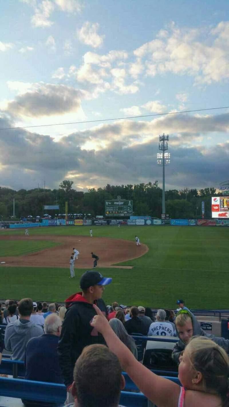 Vista sentada para Fifth Third Ballpark Secção 210 Fila 15 Lugar 1