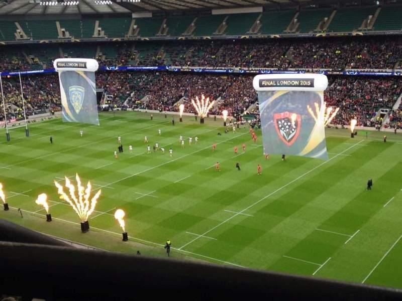 Vista sentada para Twickenham Stadium Secção U27