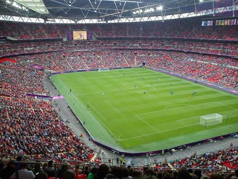 Vista sentada para Wembley Stadium Secção 544 Fila 15 Lugar 124