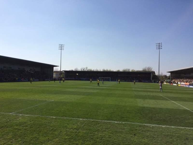 Vista sentada para Pirelli Stadium Secção East Stand Fila Front