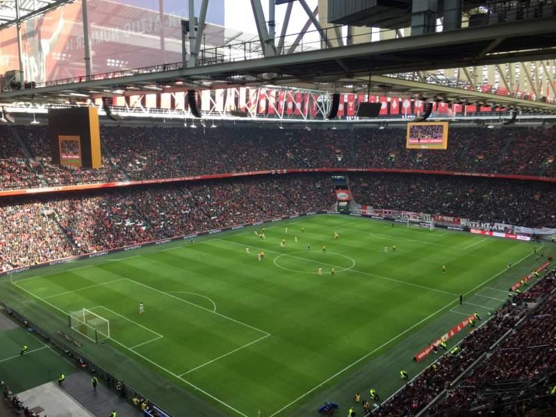 Vista sentada para Amsterdam Arena Secção 409 Fila 24 Lugar 80