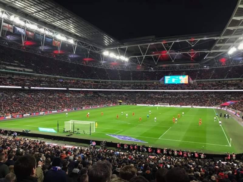 Vista sentada para Wembley Stadium Secção 109 Fila 35 Lugar 209