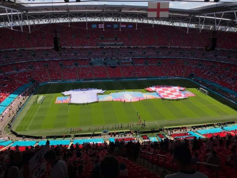 Vista sentada para Wembley Stadium Secção 502 Fila 33 Lugar 49