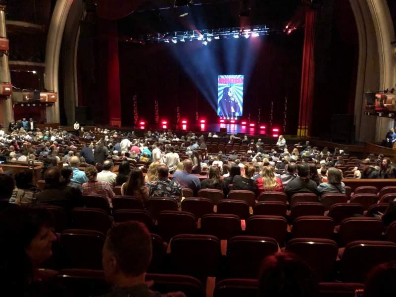 Vista sentada para Dolby Theatre Secção PART R Fila J Lugar 11