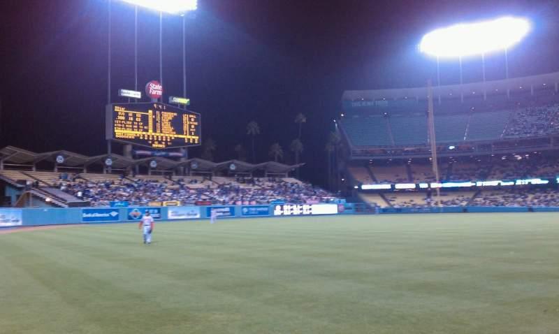 Vista sentada para Dodger Stadium Secção 49FD Fila AA Lugar 01