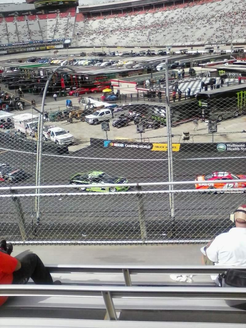Vista sentada para Bristol Motor Speedway Secção Z Fila 6 Lugar 11