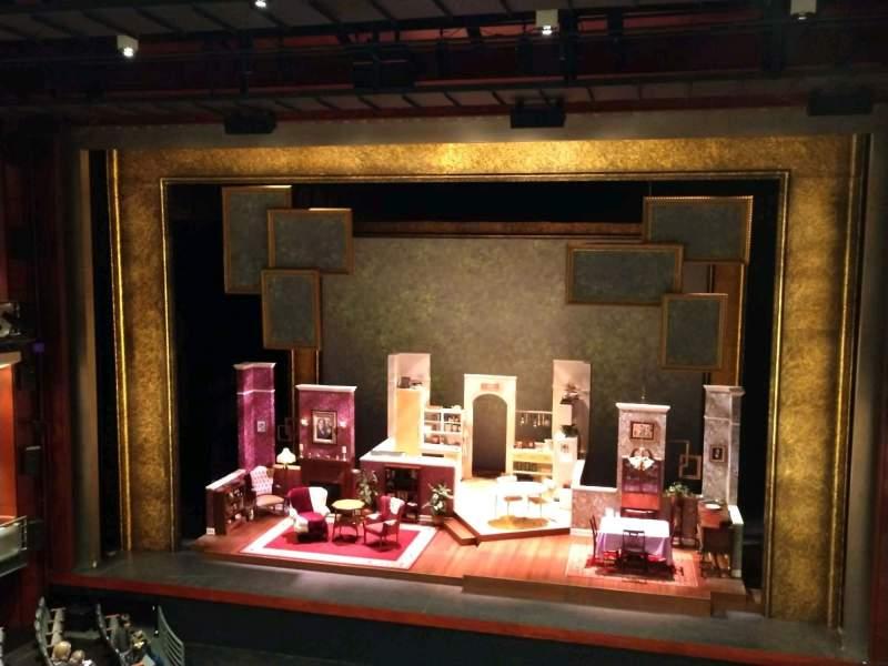 Vista sentada para A.J. Fletcher Opera Theater Secção E Fila C Lugar 207